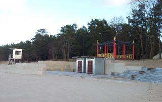 Строительство променада в Нарва-Йыесуу.